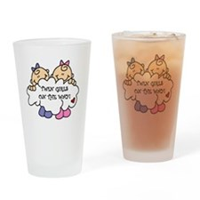 Twin Girls on the Way Pint Glass