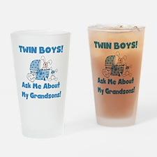 Grandma Twin Boys Pint Glass