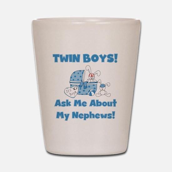Aunt Twin Boys Shot Glass