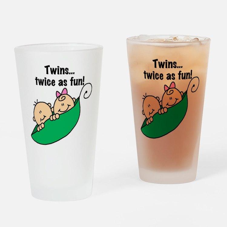 Twins Twice as Fun Pint Glass