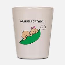 Grandma of Twins Shot Glass
