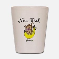 New Dad of Twins Shot Glass