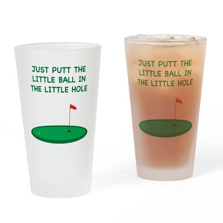 Golf Pint Glass