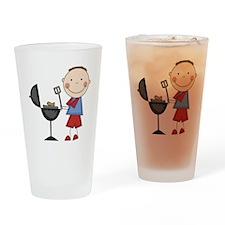 Stick Figure BBQ Pint Glass