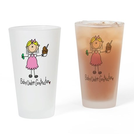 Baby Under Construction Pint Glass