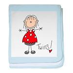 Twins baby blanket