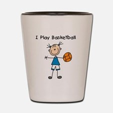 Girl I Play Basketball Shot Glass