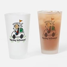 Retired and Golfing Pint Glass