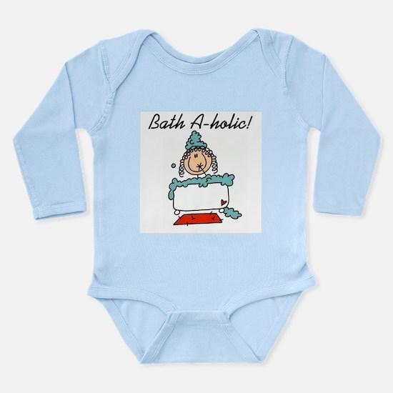 Bath-a-holic Long Sleeve Infant Bodysuit