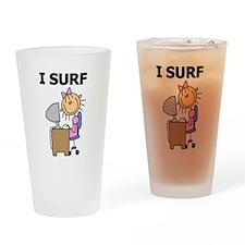 Female I Surf Pint Glass