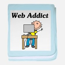 Web Addict baby blanket