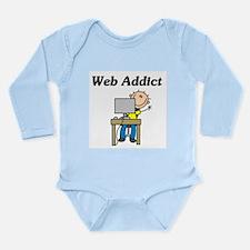 Web Addict Long Sleeve Infant Bodysuit