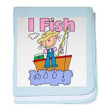 I Fish baby blanket
