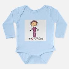 I Love Nursing Long Sleeve Infant Bodysuit