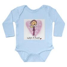 Nurses R Angels Long Sleeve Infant Bodysuit