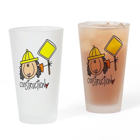 Female Construction Worker Pint Glass