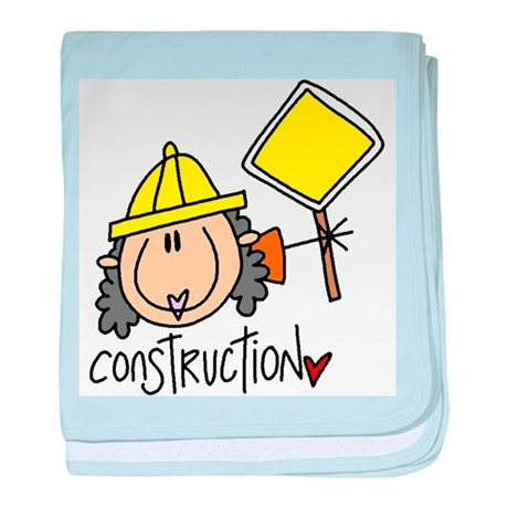 Female Construction Worker baby blanket