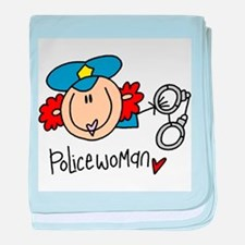 Policewoman baby blanket