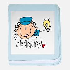 Female Electrician baby blanket