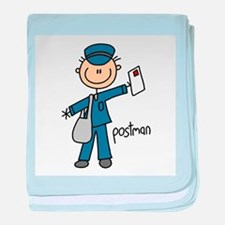 Postman baby blanket