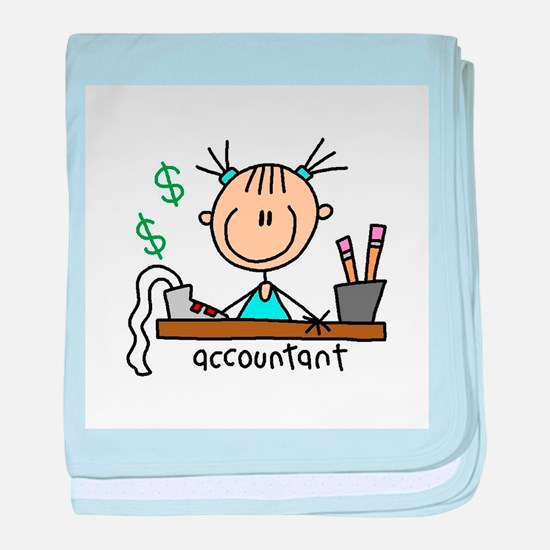 Professions Accountant baby blanket