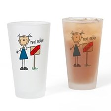 Real Estate Agent Pint Glass