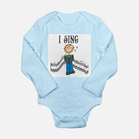 I Sing (MALE) Long Sleeve Infant Bodysuit