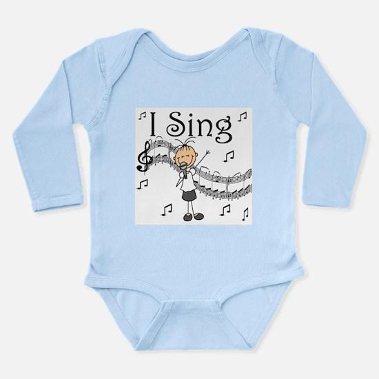 I Sing (FEMALE) Long Sleeve Infant Bodysuit