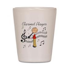 Clarinet Player Shot Glass