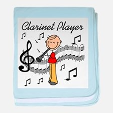 Clarinet Player baby blanket