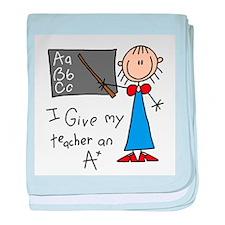 A Plus Teacher baby blanket