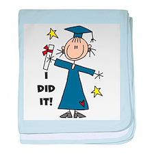 Girl Graduate baby blanket