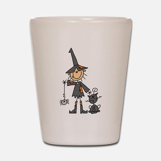 Witch and Cat Shot Glass