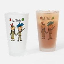 Native Americans Thanksgiving Pint Glass