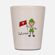 Switzerland Ethnic Shot Glass