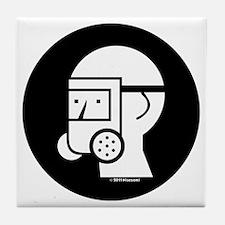 Gas Mask W/Shield Tile Coaster
