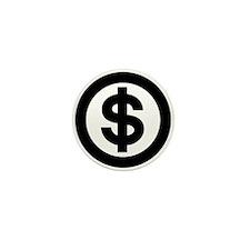 US Dollar Sign Icon Mini Button