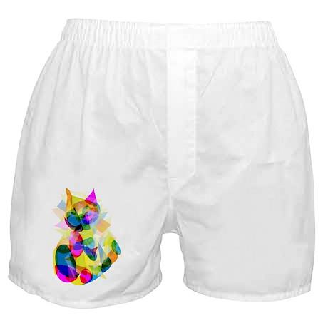 Abstract Cat Boxer Shorts