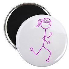 Pink Run. Girl No Words Magnet