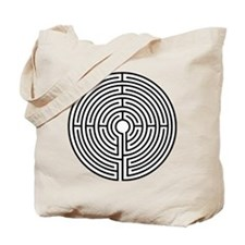 Medieval Labyrinth Symbol Tote Bag