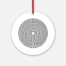 Medieval Labyrinth Symbol Ornament (Round)