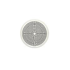 Medieval Labyrinth Symbol Mini Button