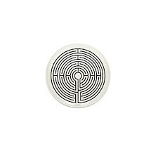 Medieval Labyrinth Symbol Mini Button (100 pack)