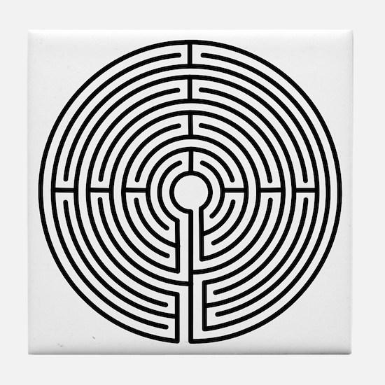 Medieval Labyrinth Symbol Tile Coaster