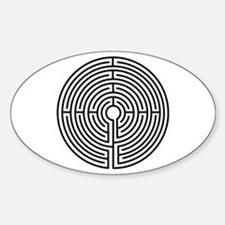 Medieval Labyrinth Symbol Decal