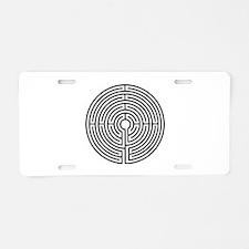 Medieval Labyrinth Symbol Aluminum License Plate