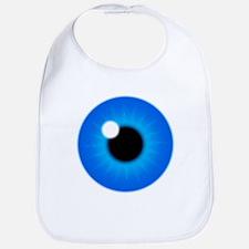 Blue Eye Iris and Pupil Bib