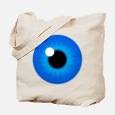 Blue Eye Iris and Pupil Tote Bag