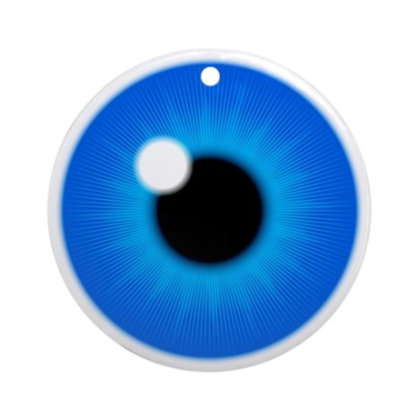 Blue Eye Iris and Pupil Ornament (Round)