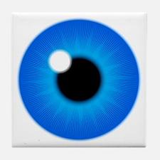Blue Eye Iris and Pupil Tile Coaster
